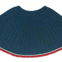 Skirt school blue jersey d / girls