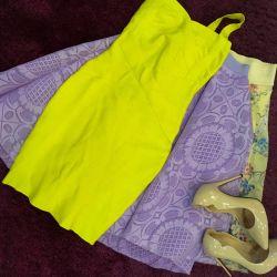 Sarı bandaj elbise