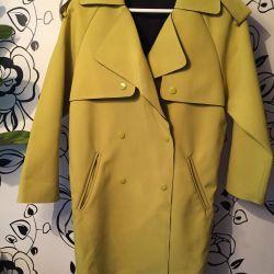 Coat (Trench) lemon-mustard color 40-46 rr