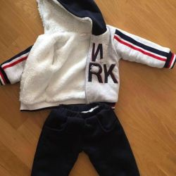 Children's warm sports suit