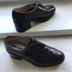 new shoes boots leather zara trf 37