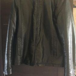 Jacket leather sheepskin coat