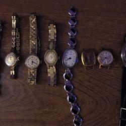 Vintage retro kol saatleri topluluğu