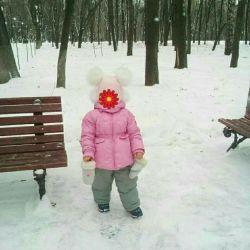 Зимний комбинезон для девочки Ledotte р.92-98