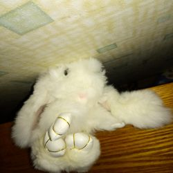 Iepurasul de jucarie, blana de iepure reala