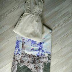 Dress sarafan in the floor of Axara silk