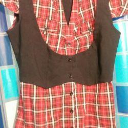 Красивая блузка 2в1!