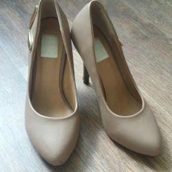 Shoes, beige 37