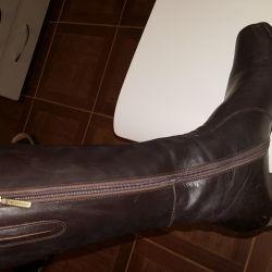 Μπότες LEATHER Γερμανία M-Παπούτσια p39 / 40 demisezon