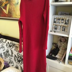 Dress with natural wool
