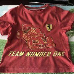 Μπλουζάκι για ένα αγόρι. Ferrari