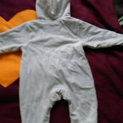 Overalls are warm, very comfortable. up to 6 months.