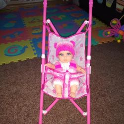 Лялька Реборн 28 см. НОВА + коляска в ПОДАРУНОК !!!