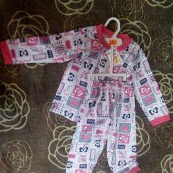 Children's pyjamas. Cotton 100% for 1 year