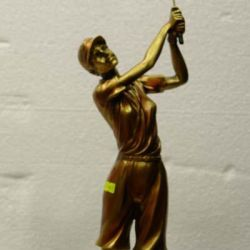 statuette golf.bronza πατίνα.