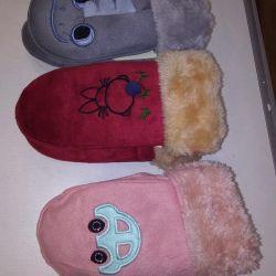 Children's winter mittens