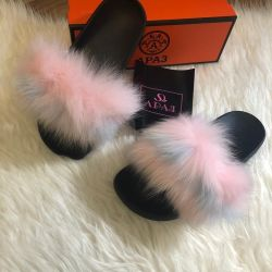 🔥 Slippers sale Mules 🔥 with real fur ✔ ️