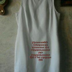 Классическре белое прямое платье на подкладке