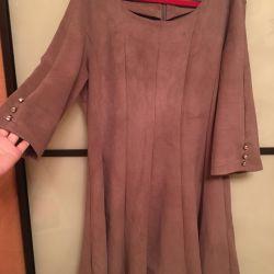 Suede rochie
