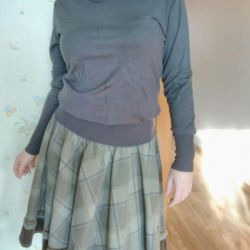 Skirt and cardigan for autumn.