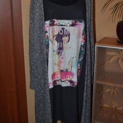 Фирменное платье / имитация двойки