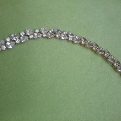 Bracelet with rhinestones.