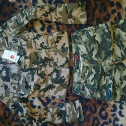 Yeni ceket ve kamuflaj şortları 42-44