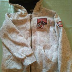 Zip sweatshirt rise 128