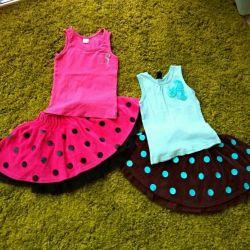 Bir kız için çok sayıda kıyafet