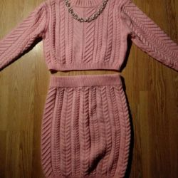 Юбка и свитер костюм