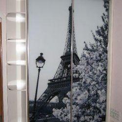 Sliding wardrobe with the Eiffel Tower Photo printing