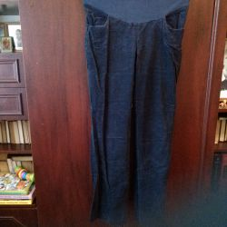 Warm Corduroy Pants for Pregnant Women