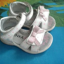 Sandals for the little girl