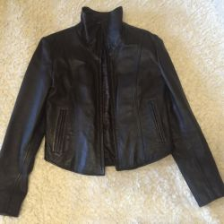 Куртка новая, итальянская кожа , коричневая из США