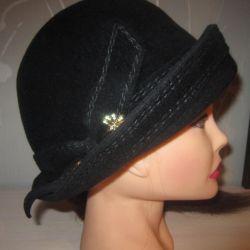 Шляпка фетр натуральный