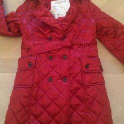 Down jacket-raincoat. New. Demi-season.