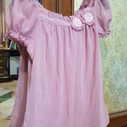 New blouse with chiffon label