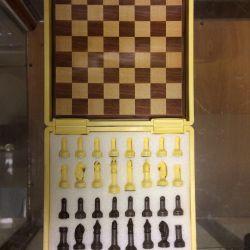 Σκάκι και σχέδια, ξύλινα φυσικά Ajedrez Damas