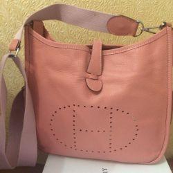 Bag Genuine leather HERMES Evelyne