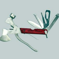 Multitul with a hammer and a hatchet 11 in 1