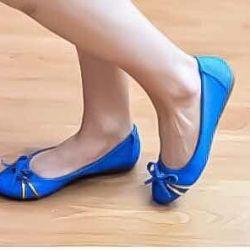 Bale ayakkabıları, boyut 35. Bu 1 kez. deri