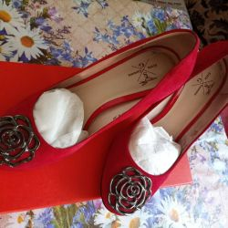Shoes red size 38