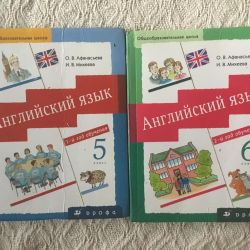 İngilizce ders kitapları 5-6.