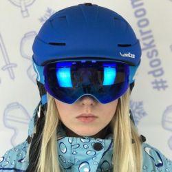 New blue snowboard ski helmet