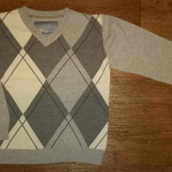 Pullover gray in diamond. Firm Next. For 5 years.