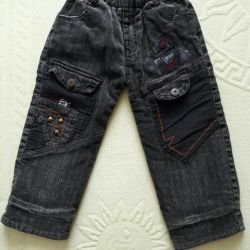 Warm fleece jeans