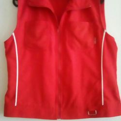 Women's vest red 46-48 size