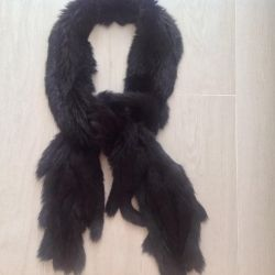 Eșarfă de blană tricotată (iepure)