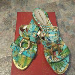 Flip flops leather Loretta Pettinari