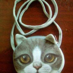 Geantă nouă 3D pisică